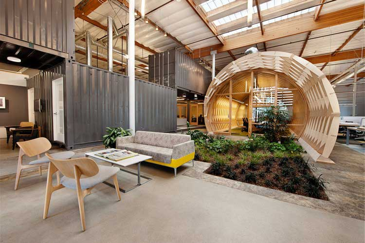 Deco bois d une agence d architectes