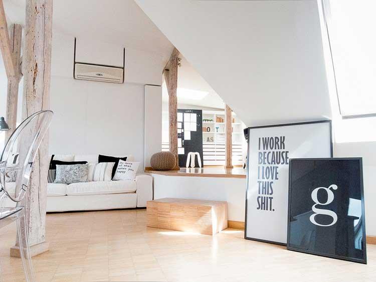 Idées d\'aménagement de combles pour un appartement