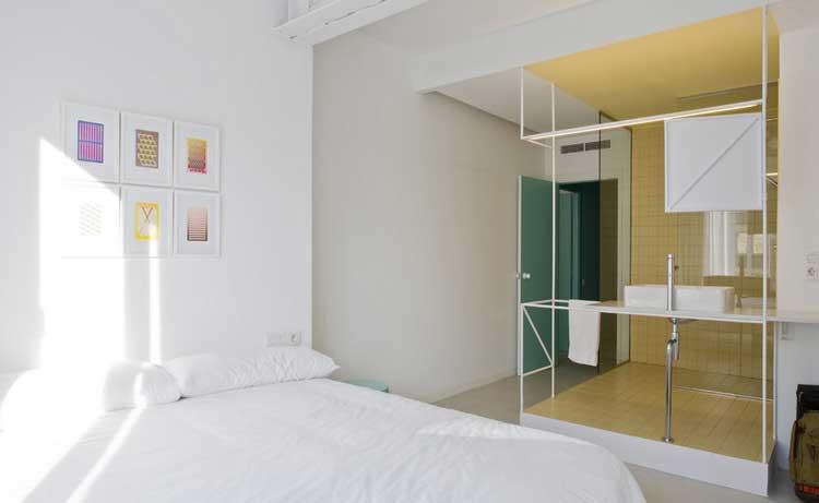 la d coration pastel et pur e d 39 un appartement barcelone. Black Bedroom Furniture Sets. Home Design Ideas