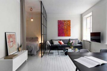 petit appartement avec chambre en mezzanine. Black Bedroom Furniture Sets. Home Design Ideas