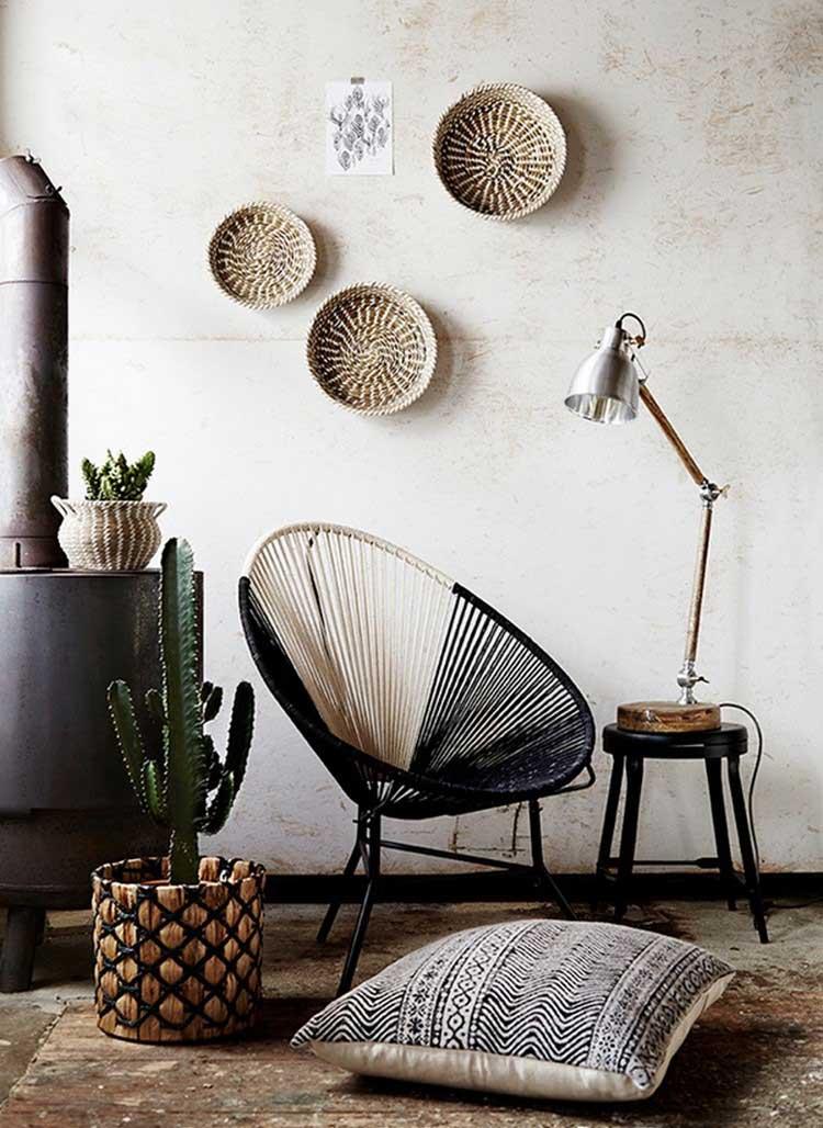 fauteuil acapulco noir et blanc