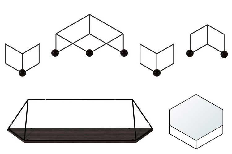 objets muraux kann design