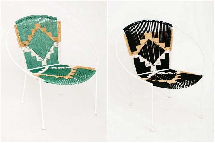 variante acapulco chaise Apollonia motif ethnique