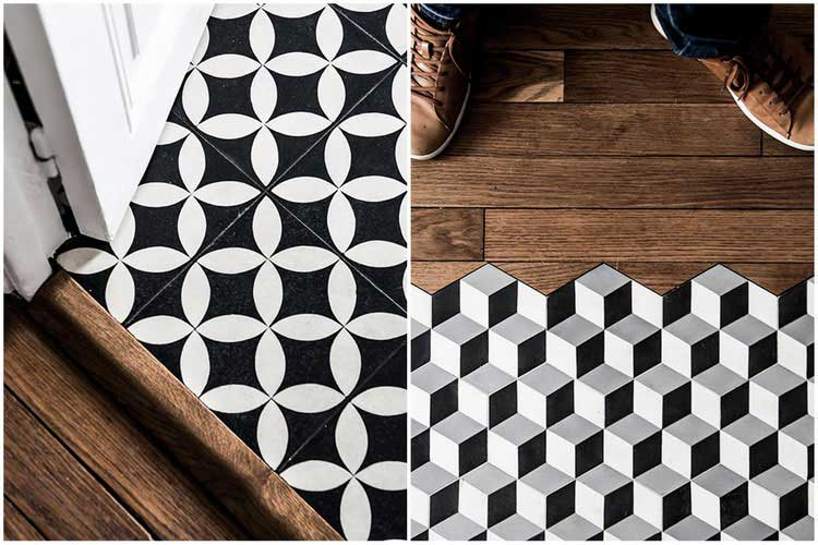 carreaux de ciment 6 fa ons de les int grer dans votre d co. Black Bedroom Furniture Sets. Home Design Ideas