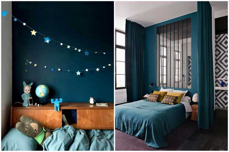 beautiful decoration salon bleu canard ideas design. Black Bedroom Furniture Sets. Home Design Ideas