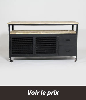 10 meubles au look masculin for Meuble facon industriel