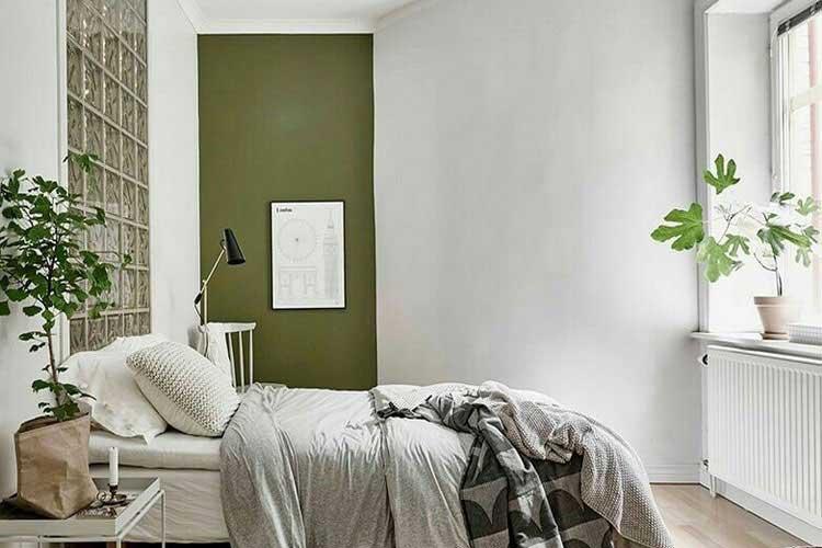 chambre vert kaki