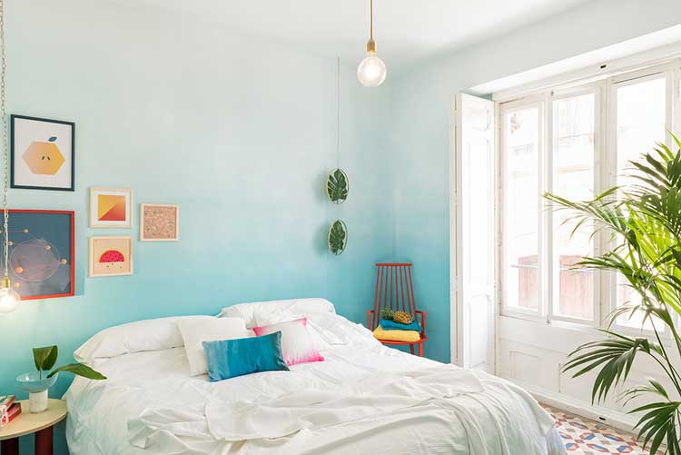 deco chambre mur tie and dye