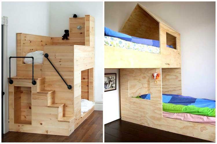 lits superposés cabane