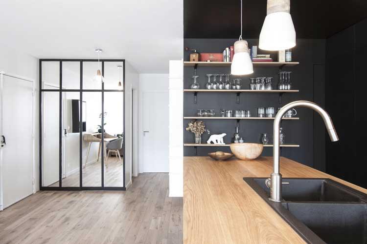 cuisine noire et bois exemple de r233alisaton dans un