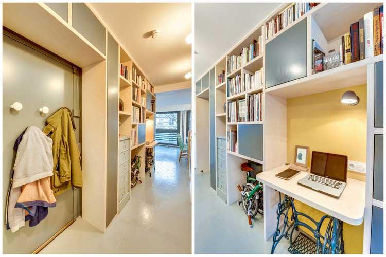 aménager un bureau dans un couloir