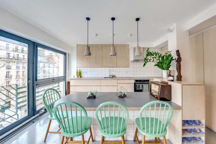 la couleur vert d 39 eau au coeur d 39 une r novation. Black Bedroom Furniture Sets. Home Design Ideas