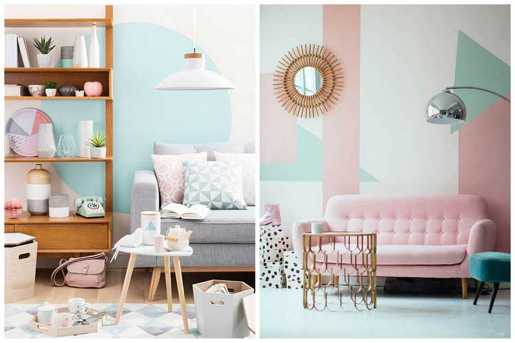 Deco salon scandinave pastel - Boutique-gain-de-place.fr