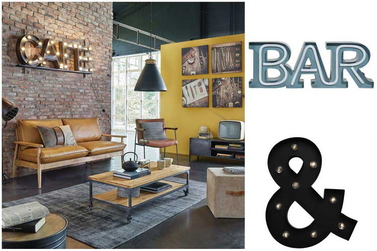 une lettre lumineuse pour illuminer votre d co. Black Bedroom Furniture Sets. Home Design Ideas