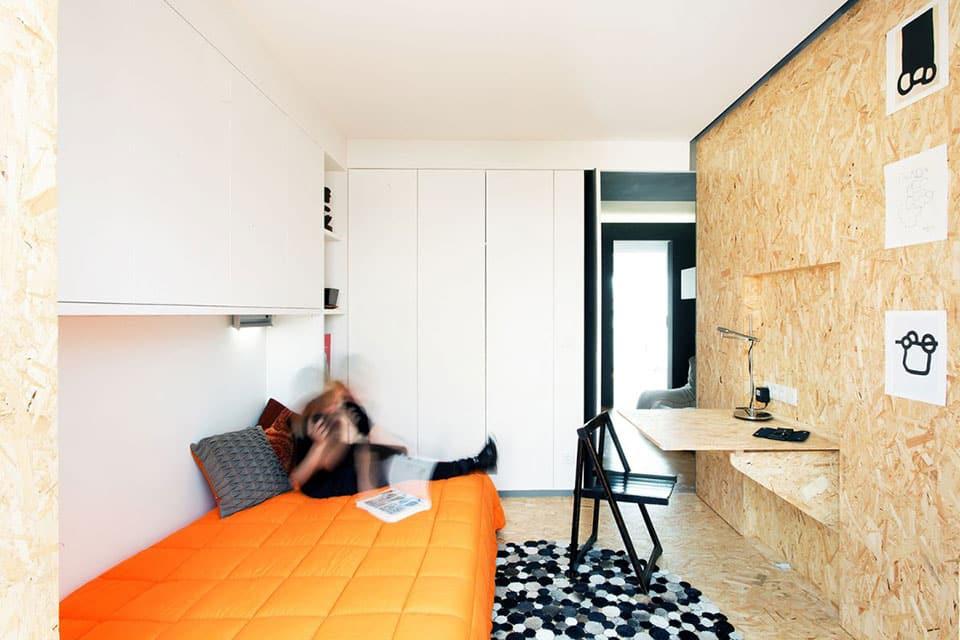 appartement modulable avec meuble sur mesure