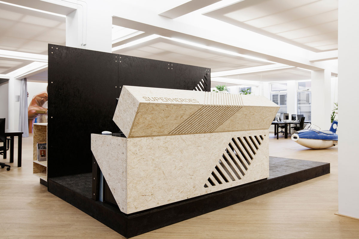 meuble en panneau OSB