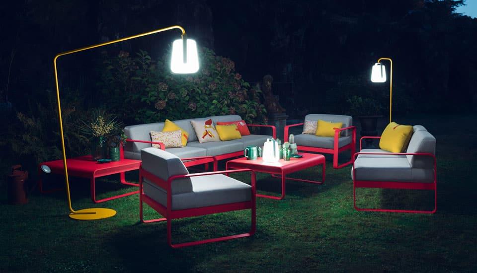 lampadaire extérieur fermob pour illuminer votre terrasse