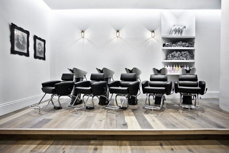 decoration salon coiffure masculine