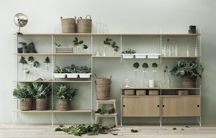 Disposer vos plantes sur une étagère
