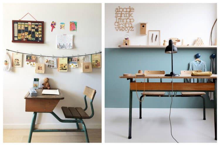 Bureau écolier ancien : quel modèle choisir pour un coin bureau vintage?