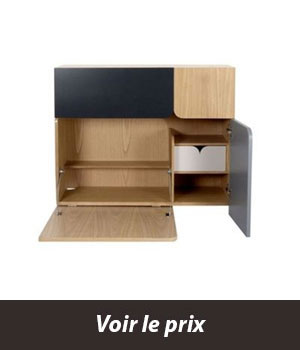 secretaire mural rabattable