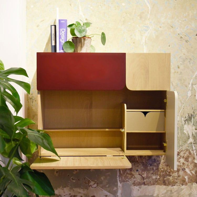 7 id es de bureau mural rabattable pour petits espaces. Black Bedroom Furniture Sets. Home Design Ideas