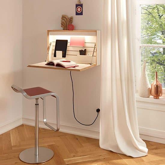 Mini bureau escamotable avec éclairage