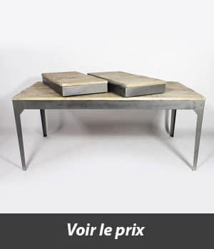 table style industriel avec rallonges