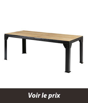 quelle table style industriel avec rallonges choisir pour sa salle manger. Black Bedroom Furniture Sets. Home Design Ideas