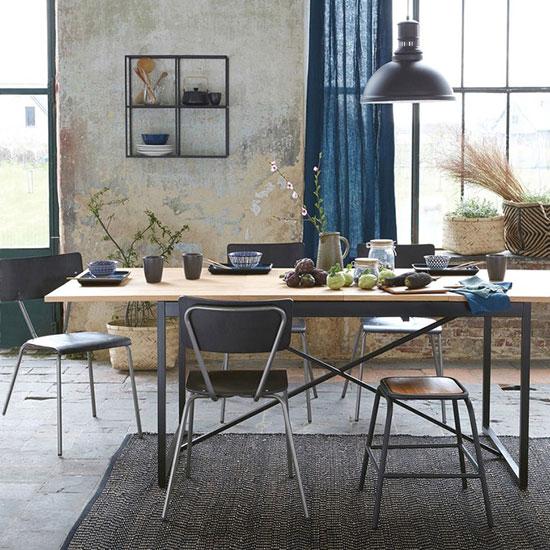 table style industriel avec allonges
