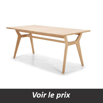table design avec rallonges