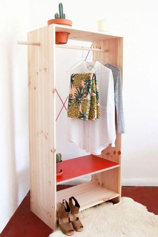 dressing caisse en bois