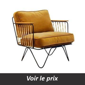 fauteuil croisette honoré