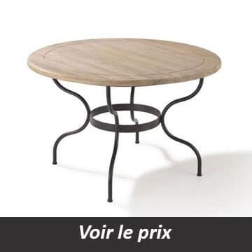 Table de salle à manger en fer forgé