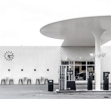 arne jacobsen station-service Texaco