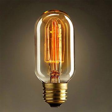 une ampoule filament pour une d co ambiance r tro. Black Bedroom Furniture Sets. Home Design Ideas