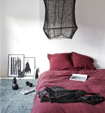 chambre couleur bordeaux