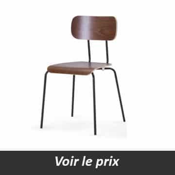 chaise industriel en bois
