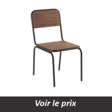 chaise en fer industriel