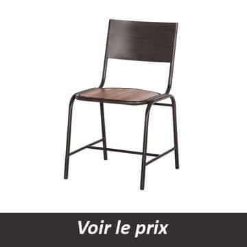 chaise bois metal