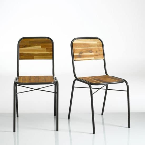 chaise industriel écolier