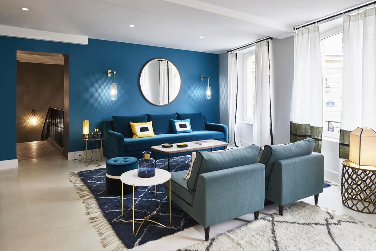 Couleur Bleu Canard Maison Sarah Lavoine
