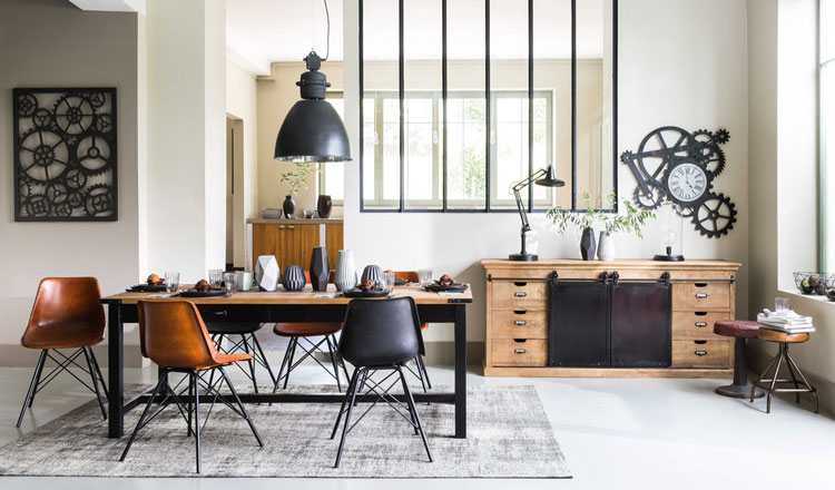 buffet industriel quel mod le choisir pour un salon aux airs de loft. Black Bedroom Furniture Sets. Home Design Ideas