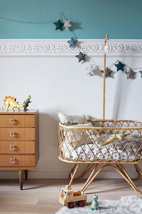 chambre bebe bleu canard