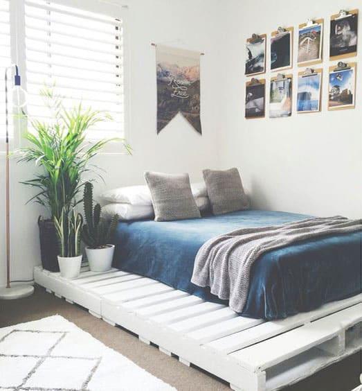 palette en bois lit