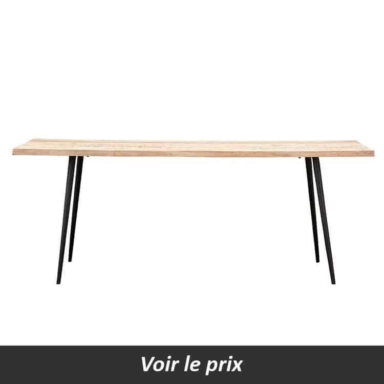 quelle table plateau bois pied m tal choisir pour sa salle. Black Bedroom Furniture Sets. Home Design Ideas