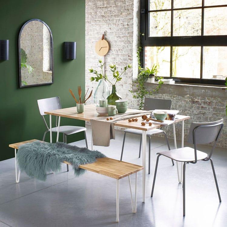 quelle table plateau bois pied m tal choisir pour sa salle manger. Black Bedroom Furniture Sets. Home Design Ideas