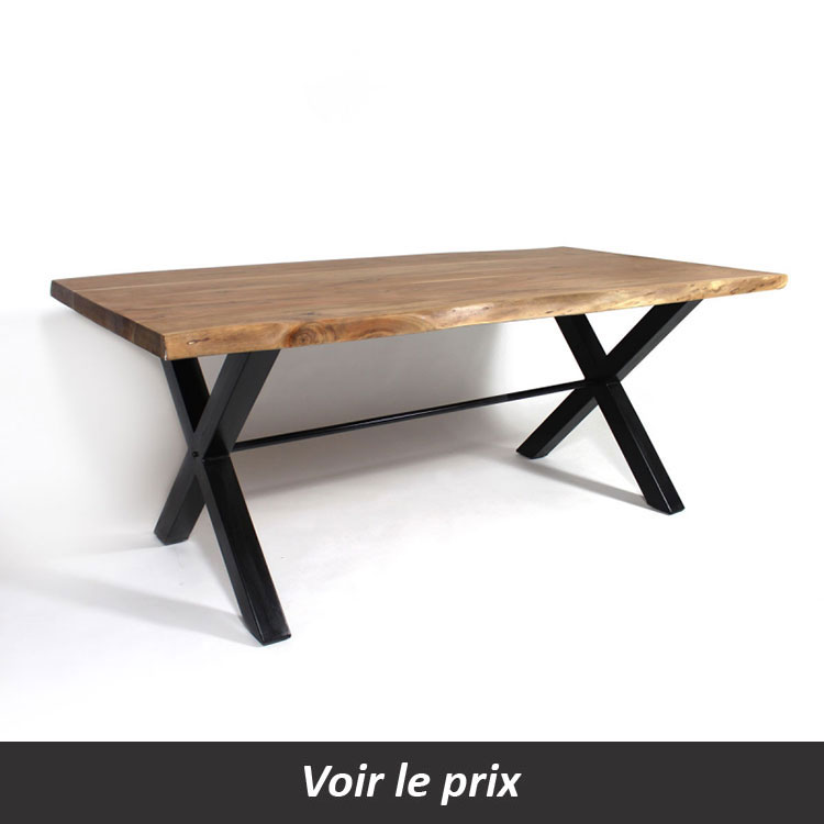 quelle table plateau bois pied m tal choisir pour sa salle. Black Bedroom Furniture Sets. Home Design Ideas