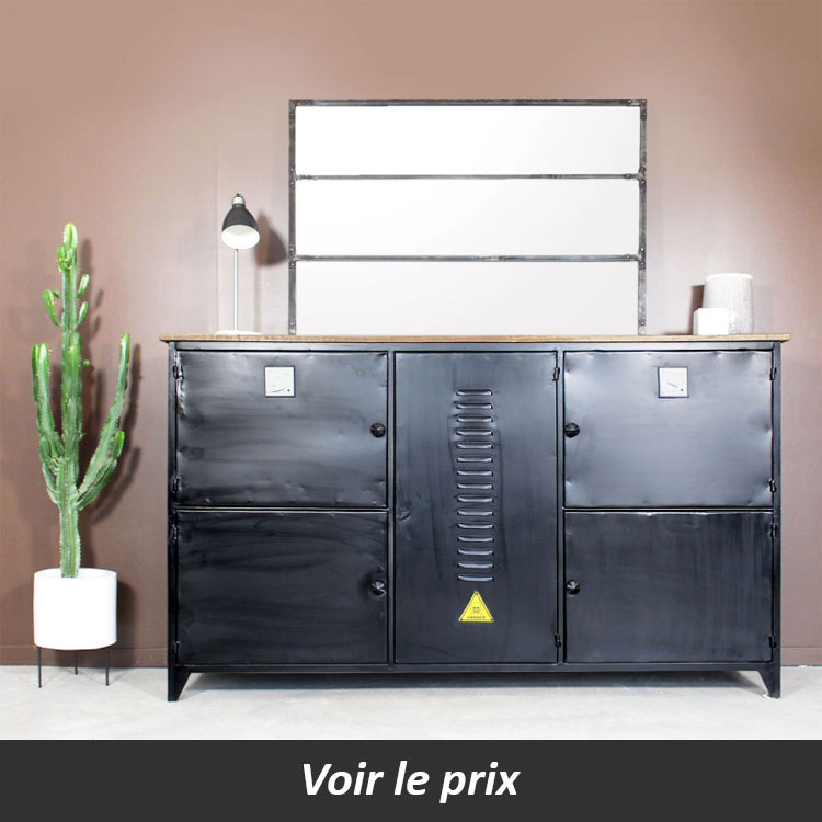 buffet industriel style casier Made in meubles