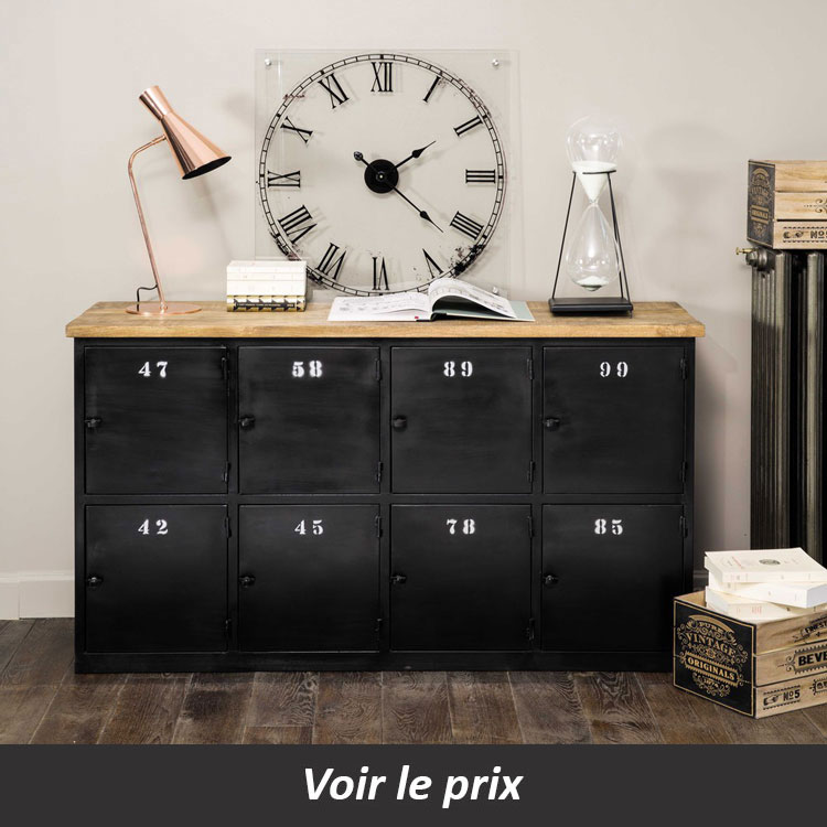 buffet industriel quel mod le choisir pour un salon aux. Black Bedroom Furniture Sets. Home Design Ideas